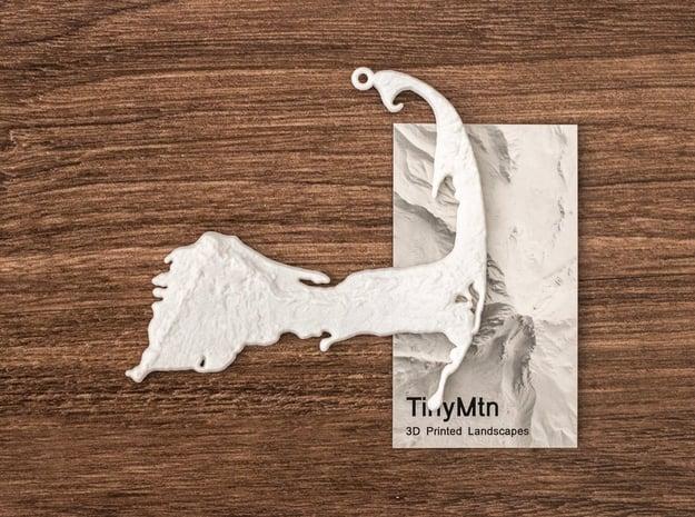 Cape Cod Christmas Ornament in White Natural Versatile Plastic