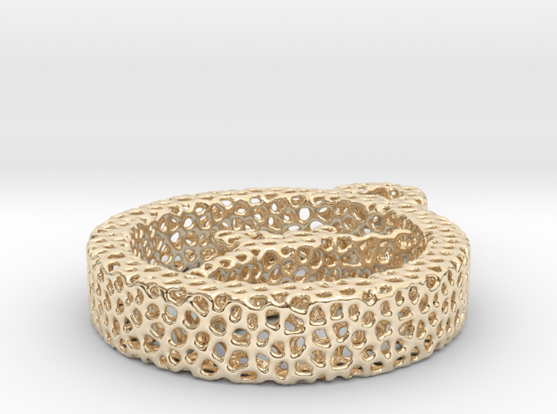 724yoga yoga voronoi in 14k Gold Plated Brass