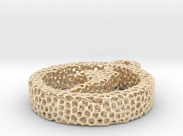 Voronoi yoga pose in 14k Gold Plated Brass