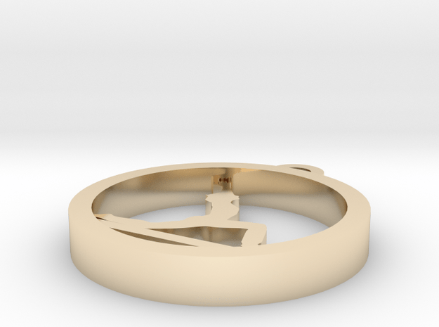 in 14k Gold Plated Brass
