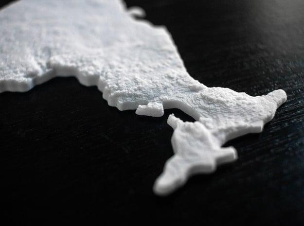Ontario Christmas Ornament in White Natural Versatile Plastic