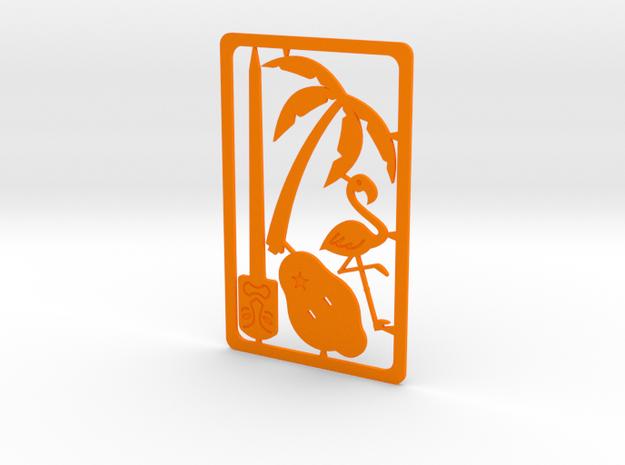 Pocket Luau in Orange Processed Versatile Plastic