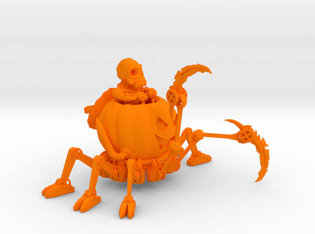 Mech O Lantern  50mm in Orange Processed Versatile Plastic