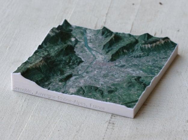 Grenoble, France, 1:150000 in Full Color Sandstone