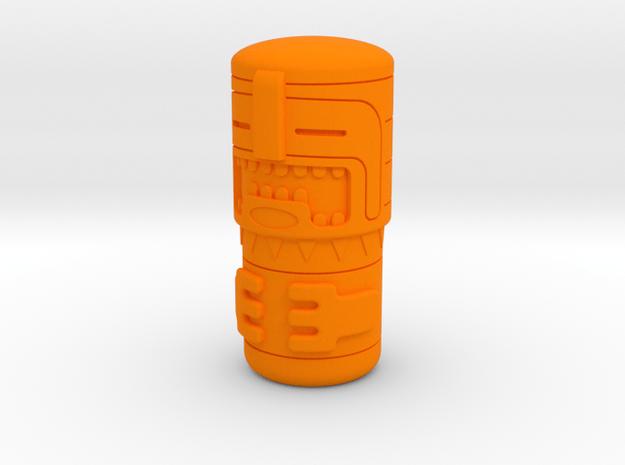 Tiki Figure in Orange Processed Versatile Plastic
