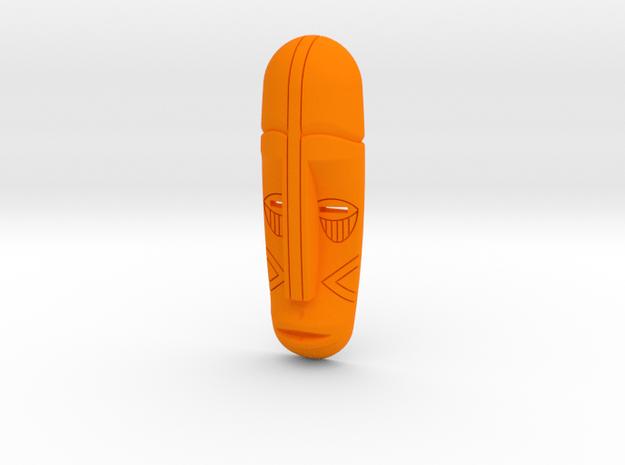 Tribal Mask in Orange Processed Versatile Plastic