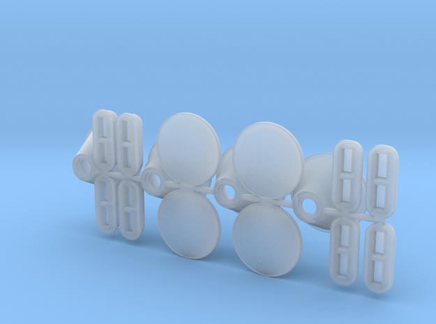 DAF koplamp set 4 stuks en richtingaanwijzer in Smooth Fine Detail Plastic