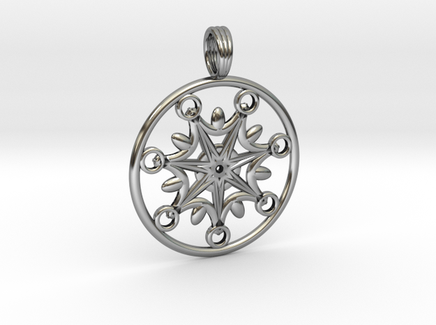 SISTAR CHAKRA in Antique Silver