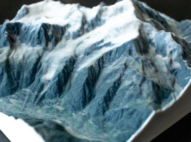 Mont Blanc, France/Italy, 1:100000 Explorer in Full Color Sandstone