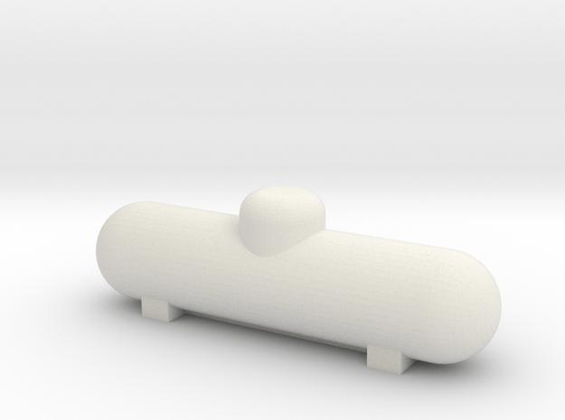 HO scale 500 gal Propane Tank in White Natural Versatile Plastic