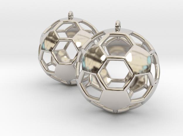 Pair of Soccer Ball Earrings