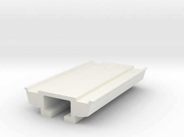 Pedestrain Overhead Bridge 1:50 in White Natural Versatile Plastic