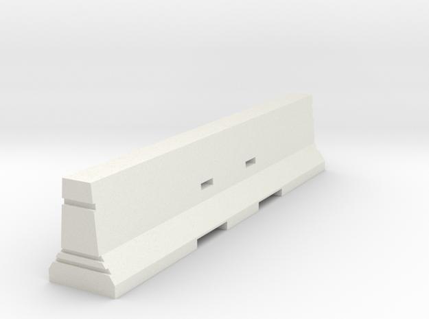 Concrete Barrier 1:50 in White Natural Versatile Plastic