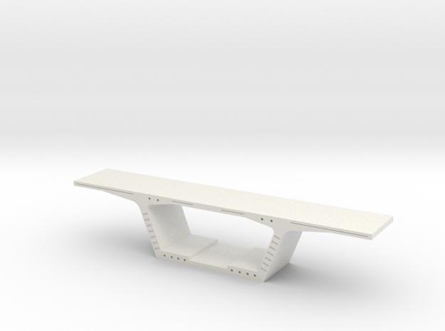 Bridge Segment 1:50 in White Natural Versatile Plastic