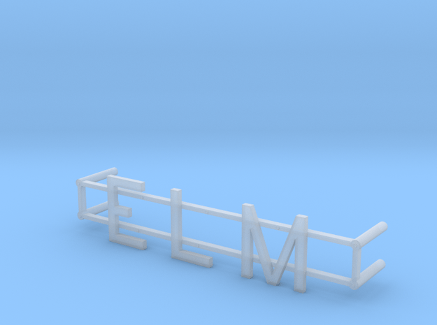 ELM Street Name in Smoothest Fine Detail Plastic