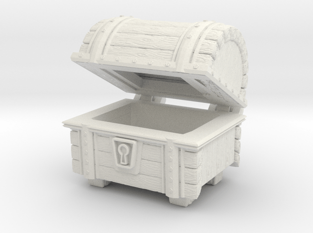Wooden Chest Hinged in White Natural Versatile Plastic