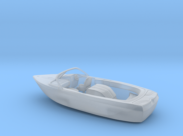 Motorboat 1:100 scale in Smooth Fine Detail Plastic