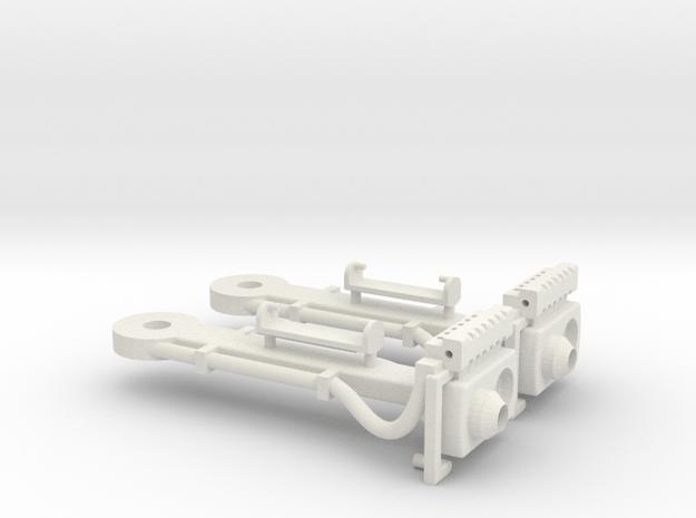 Magnet - Scharfenbergkupplung Straßenbahn 1:22,5 in White Natural Versatile Plastic