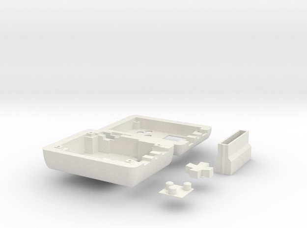 Tiny Game Corner Case in White Natural Versatile Plastic