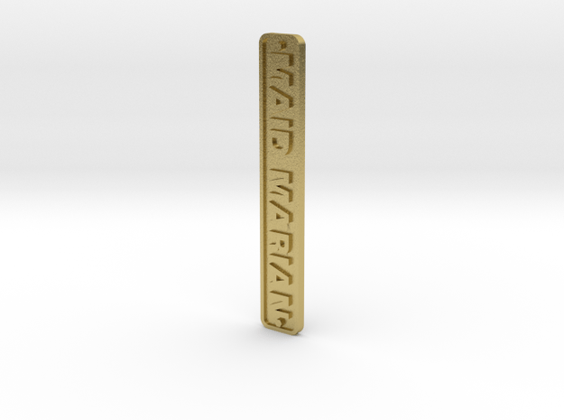 16mm Nameplate MAID MARIAN (Dinorwic Hunslet) in Natural Brass