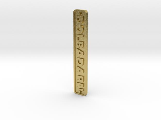 16mm Nameplate DOLBADARN (Quarry Hunslet) in Natural Brass