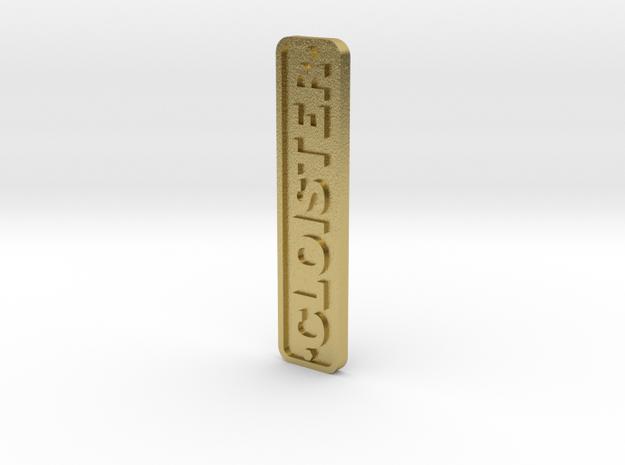 16mm Nameplate CLOISTER (Quarry Hunslet) in Natural Brass