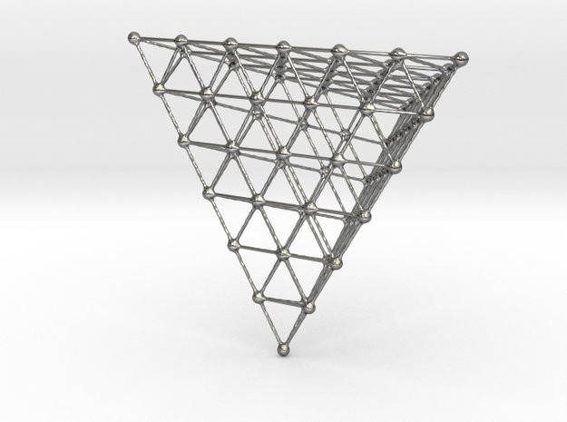 platonic atom array 2 in Fine Detail Polished Silver