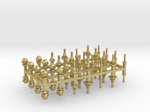 bay Dachaufsätze 5 -  1:120 TT Messingausführung 5 in Natural Brass