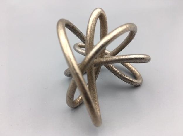 Steel Miller Petal Knot in Polished Bronzed-Silver Steel