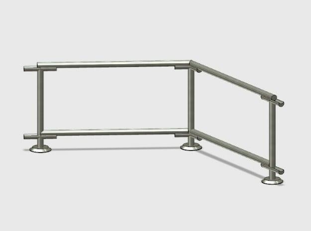 6' Fence Frame 60 deg. Corner (2ea.) in White Natural Versatile Plastic: 1:87 - HO