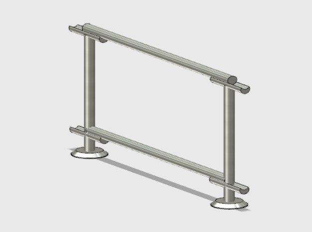 6' Straight Fence Frame-1-Bay (2ea.) in White Natural Versatile Plastic: 1:87 - HO