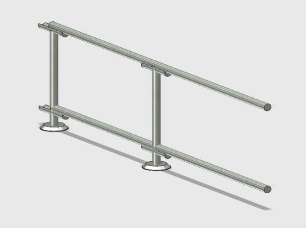 6' Straight Fence Frame-2-Bay (2ea.) in White Natural Versatile Plastic: 1:87 - HO