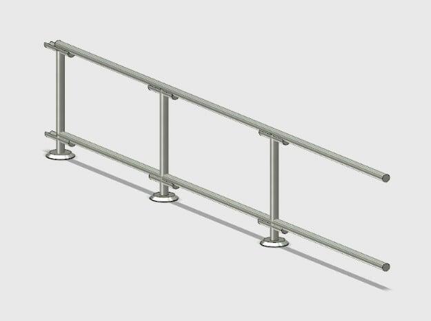 6' Straight Fence Frame-3-Bay (2ea.) in White Natural Versatile Plastic: 1:87 - HO
