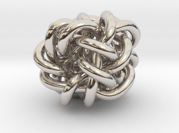 B&G Knot 018 in Rhodium Plated Brass