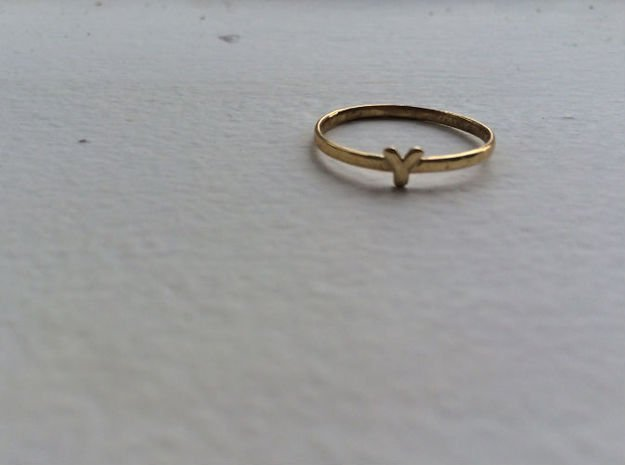 Y Ring in Polished Brass