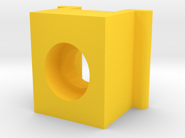 Expandable Ant Farm Male Tube Adapter in Yellow Processed Versatile Plastic