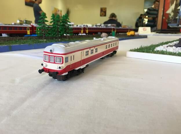 BDZ Series 19 diesel train - HO - 1:87 scale in White Natural Versatile Plastic