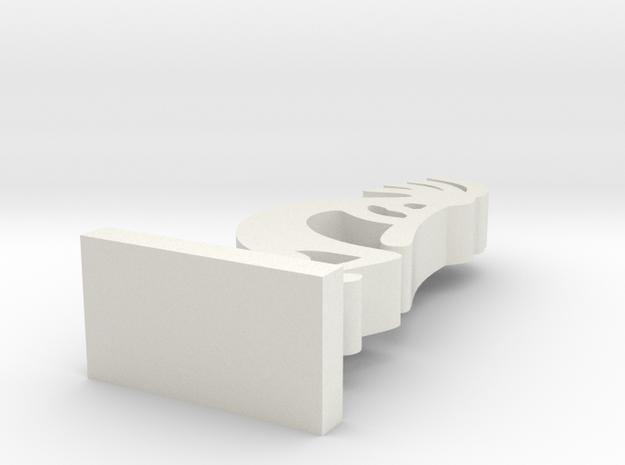 I3D KOKOPELLI in White Natural Versatile Plastic