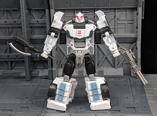 TF Combiner Wars Hands for Prowl wrist Rotation in White Natural Versatile Plastic