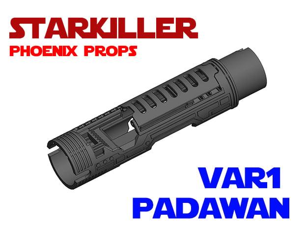 PP-TFU-SK1 - Padawan Var1 Lightsaber Chassis in White Natural Versatile Plastic