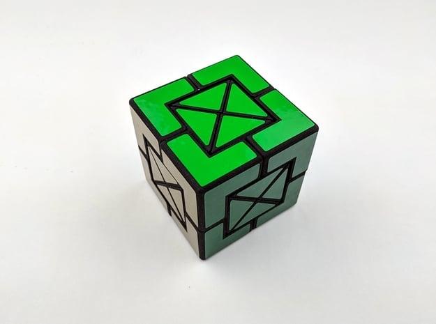 X-Box Cube in White Natural Versatile Plastic