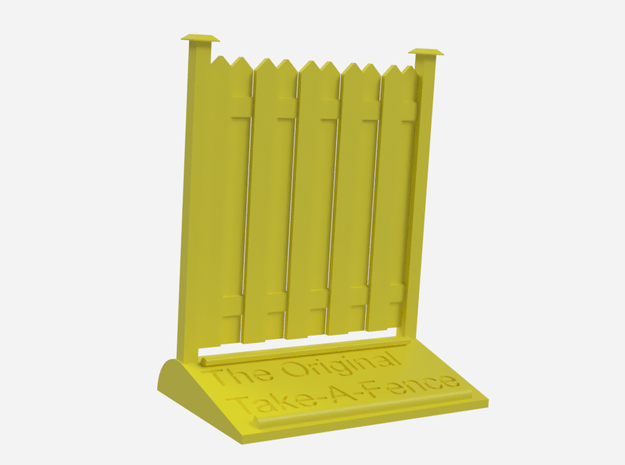 The Original Take-A-Fence: The Upright Citizen in Yellow Processed Versatile Plastic