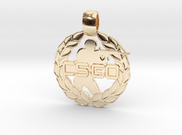 CS:GO - Soldier Pendant in 14K Yellow Gold
