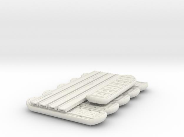 1/144 M2 Ponton bridge system in White Natural Versatile Plastic