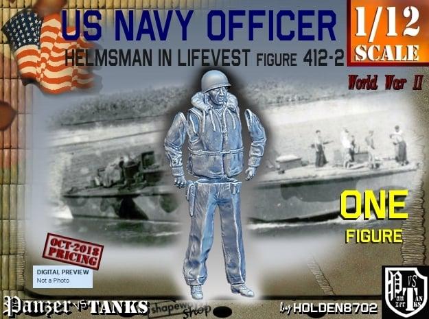 1/12 USN Officer Helmsman 412-2 in White Natural Versatile Plastic
