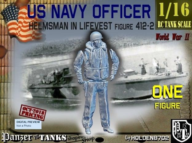 1/16 USN Officer Helmsman 412-2 in White Natural Versatile Plastic