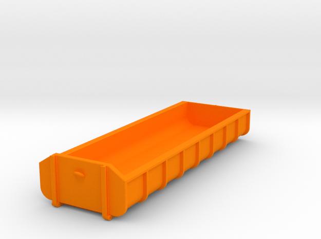 Container Abrollmulde flach 8 Meter 26m³ - mit Hak in Orange Processed Versatile Plastic