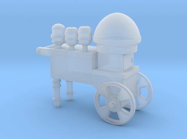 Cotton Candy Vendor Cart HO Scale in Smooth Fine Detail Plastic