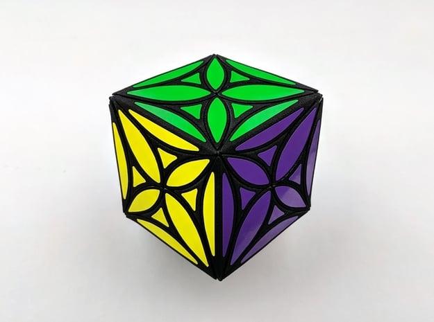 Collider Rhombdo Puzzle in White Natural Versatile Plastic