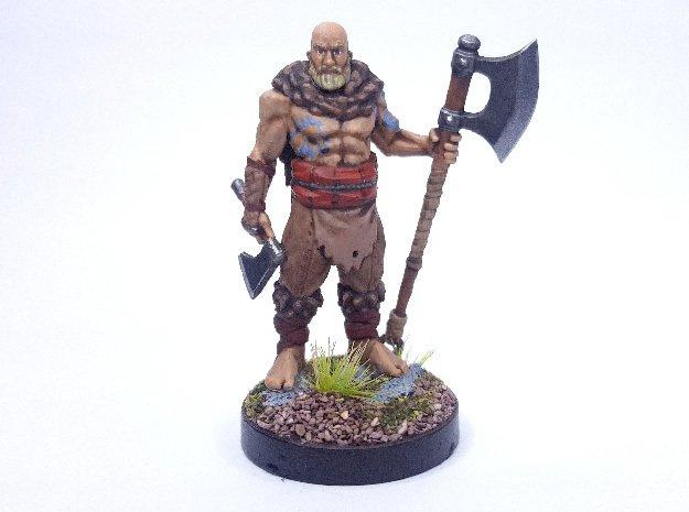 Human Barbarian in Smooth Fine Detail Plastic